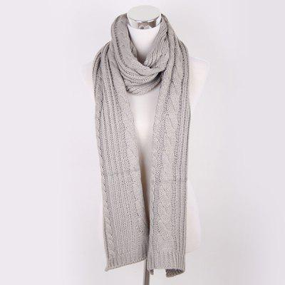 Winter Oversized Twisted Knitted Scarf