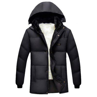 Mit Kapuze Plus Size verdicken Beflockung Zip Up Down Coat