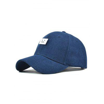 Chic Denim Cube Face Baseball Cap