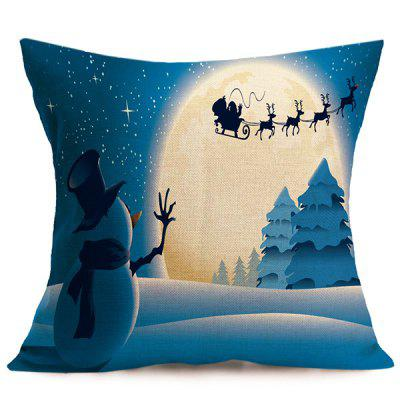 Linen Cushion Home Decor Christmas Pillow Cover