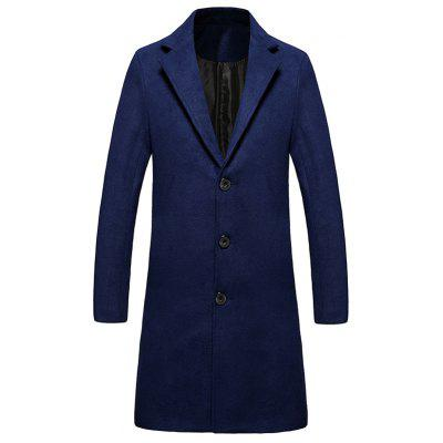 Single Breasted Lengthen Warmth Woolen Coat