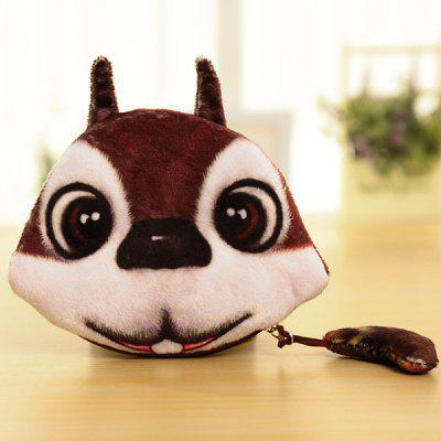 Buy WHITE AND BROWN Colour Splicing Animal Pattern Zipper Coin Purse for $6.30 in GearBest store