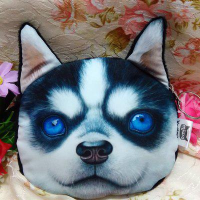 Buy BLUE AND WHITE Dog Pattern Colour Splicing Zip Coin Purse for $7.36 in GearBest store