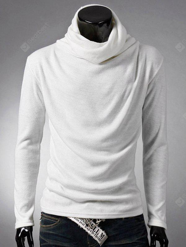 WHITE Long Sleeve Plain White T Shirt