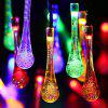 Christmas Supplies 4.8M Solar Power Waterdrop LED String Light Decoration - COLORFUL