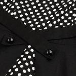 Polka Dot Semi Formal Midi Skater Dress - BLACK