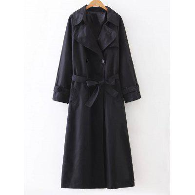 Slimming Double Breasted Long Trench Coat