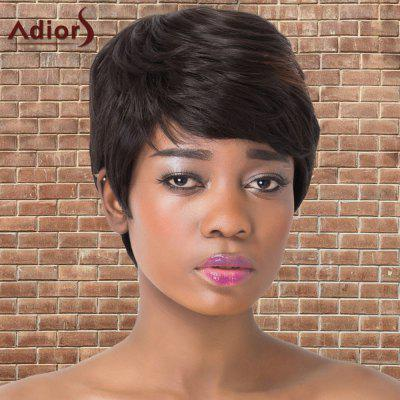 Adiors Short Full Bang Fluffy Mixedcolor Straight Synthetic Wig