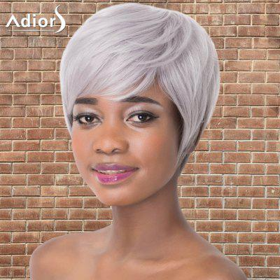 Adiors Short Shaggy Straight Full Bang Synthetic Wig