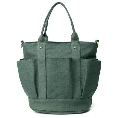 Canvas Metal Tote Bag