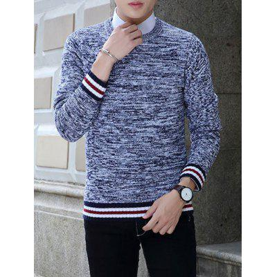 Buy ROYAL Knit Blends Stripe Splicing Long Sleeve Sweater for $11.85 in GearBest store