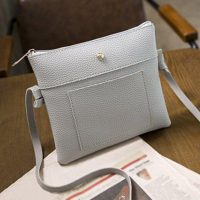 Textured PU Leather Cross Body Bag