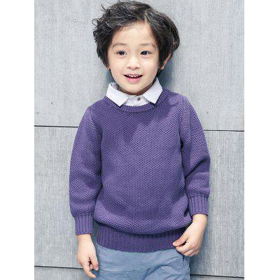 Boys Shirt Collar Panel Sweater