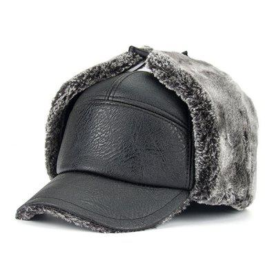 Winter Faux Fur PU Trapper Hat
