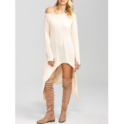 Buy PINKBEIGE High Low Convertible Off The Shoulder Dress for $17.91 in GearBest store
