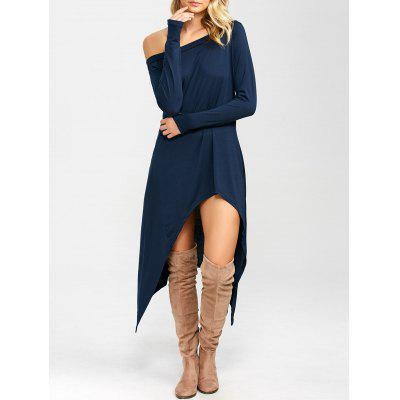 Buy CERULEAN High Low Convertible Off The Shoulder Dress for $17.91 in GearBest store