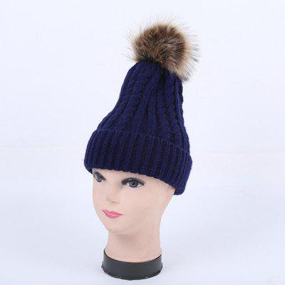 Winter Cable Knit Pom Hat