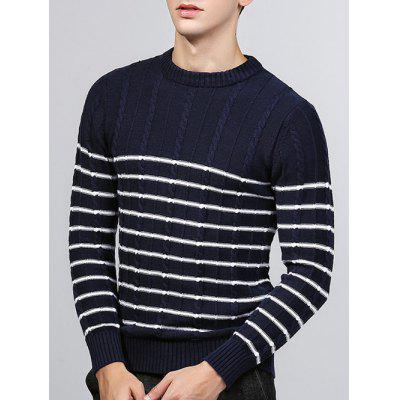 Torção Striped Knit Crew Neck Sweater