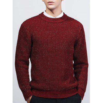 Crew Neck textura Lurex Sweater