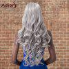 Adiors Long Shaggy Wavy Inclined Bang Synthetic Wig deal