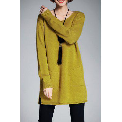Scoop Long Neck Tunique Sweater