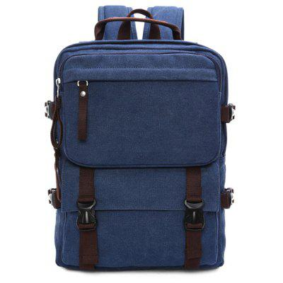 Straps Multifunctional Canvas Backpack