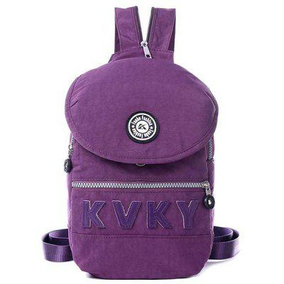 Letter Patches Nylon Crossbody Bag