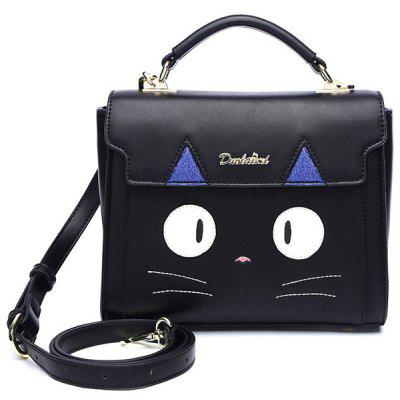 Sequined Colour Splicing Cartoon Pattern Crossbody Bag