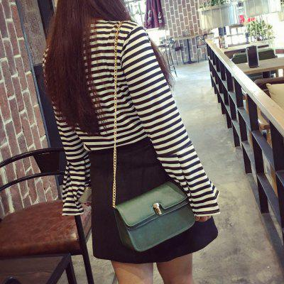 Square Shape Chain Metal Crossbody Bag