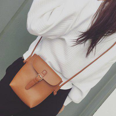 Belt Buckle Magnetic Closure Crossbody Bag