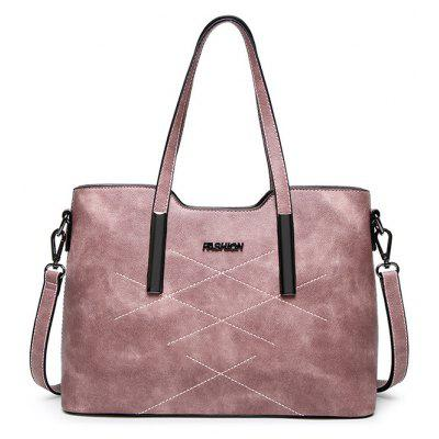 PU Leather Stitching Shoulder Bag