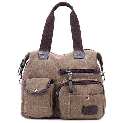 Pockets Canvas Multifunctional Handbag