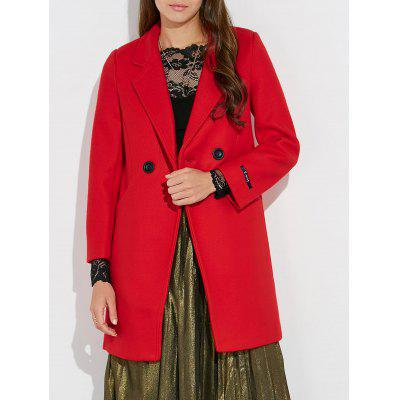 Wool Lapel Pea Coat