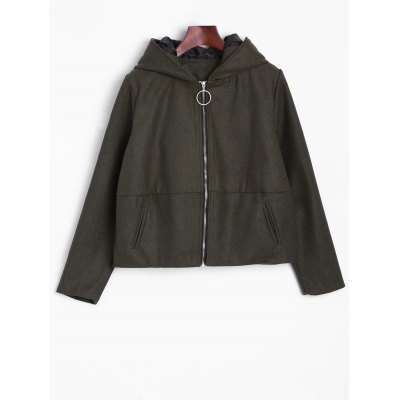 Ears Hooded Bomber Jacket