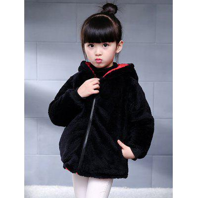 Two-Side Wear Zip Up Faux Fur Coat