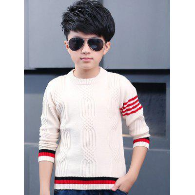 Boys Jacquard Crew Neck Pullover Sweater -  27.05 Free Shipping ... d6f18f121107