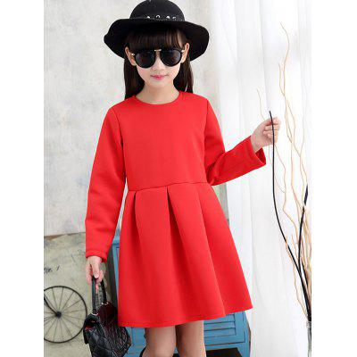 Girls Long Sleeve Flare Mini Dress
