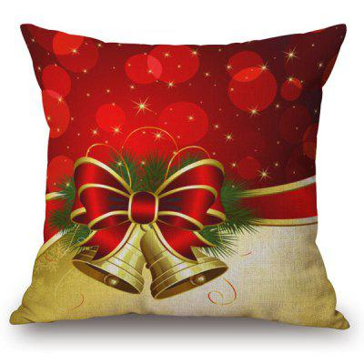 Holiday Christmas Bell Printed Pillow Case