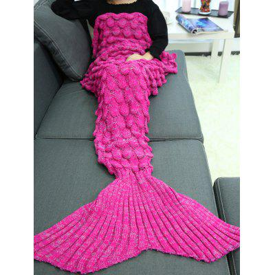 Buy TUTTI FRUTTI Knitting Fish Scales Design Mermaid Tail Style Blanket for $20.05 in GearBest store