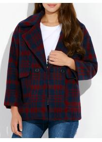 Plaid Vintage Woolen Blend Coat