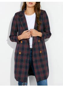 Grid Vintage Pea Coat