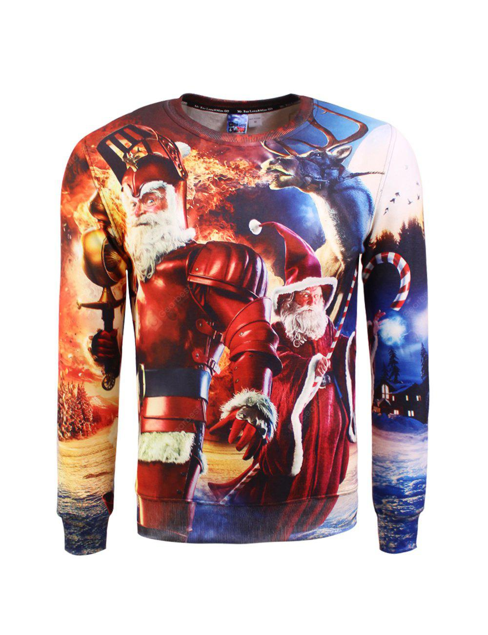 Camisola do Natal Crew Neck Graphic Feio