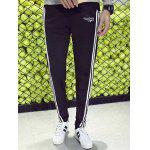 cheap Side Stripe Drawstring Pocket Jogger Pants