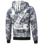 Camo Insert Hooded Padded Sports Jacket - BLACK