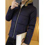 cheap Zip Up Wool Hooded Quilted Jacket