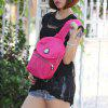 Letra Patches Nylon Crossbody Bolsa - ROSA ROJA