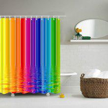 Colorful Waterproof Polyester Bathroom Shower Curtain