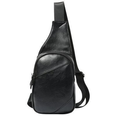 Leisure Color Block and Zip Design Messenger Bag For Men