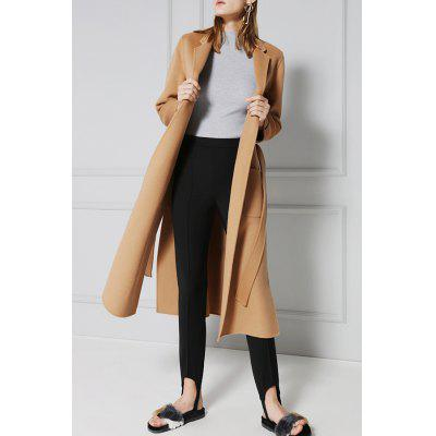 Wool Longline Wrap Coat