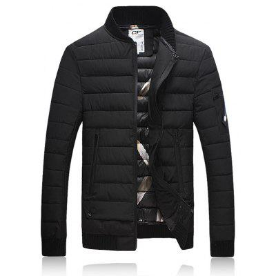 Stehkragen verdicken Zip Up Down Jacket